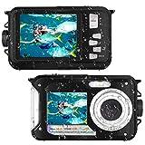 Waterproof Camera Full HD 1080P for Snorkeling 24.0 MP Underwater Camera 2.7 Inch TFT-LCD Dual Screen Waterproof Digital Camera (K1)