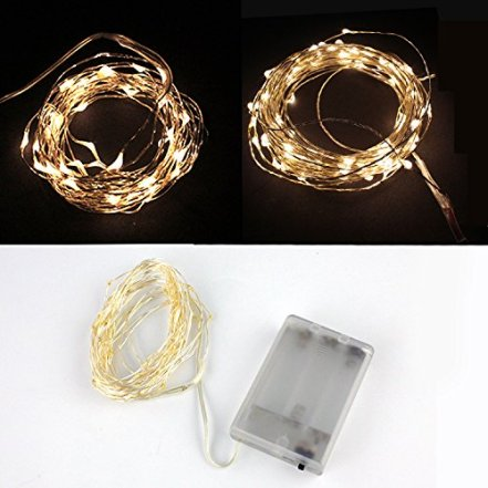 Velishy(TM) 5M 50 LED Copper Wire String Christmas Decor Fairy Lights