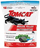 Tomcat Mouse Killer Refillable Station, Includes 1 Bait Station with 16, 1-oz. Baits - Child and Dog Resistant - Use Indoors and Outdoors to Kill Mice