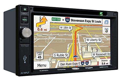 Jensen VX7022 MultiMedia Receiver w 6.2' TFT NAV / SXM Ready / Pandora / iPod / iPhone / Built-In Bluetooth with Ext Mic
