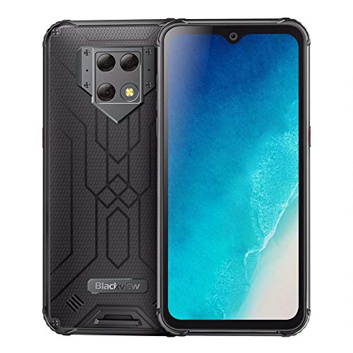 510PfeN++xL - India Gadgets - Blackview BV9800 Android 9.0 Mobile Phone: 6.3 Inch FHD IPS Screen: 6Gb Ram + 128Gb ROM: 48MP + 16MP + 5MP Camera: 6580mAh Battery: Rugged IP68 & IP69K Waterproof (Black)