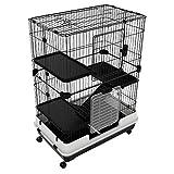 PawHut 43' H Metal 4-Level Rabbit Cage Indoor Small Animal Hutch
