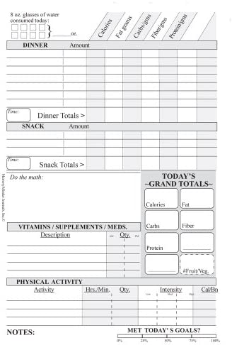 DIETMINDER Personal Food & Fitness Journal (A Food and Exercise Diary) 8