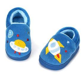 ESTAMICO Boys Girls Warm Winter Indoor Household Shoes for Kids