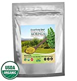 Organic Moringa Pure Green Leaf Powder 3.5 oz – Nutrient Dense Answer for Healthy Detox – All-Natural Gluten-Free in Resealable Bag – Health Boost for Men & Women