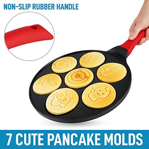 Zulay Pancake Pan With 7 Animal Face Designs