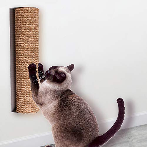 Diversity world Wall-Mounted Quick Installation or Replaceable Sisal Cat Scratching Post (Aluminum, 15.7'x3.9')