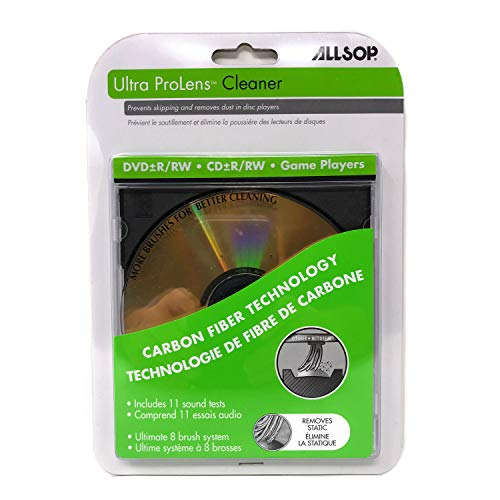 Laser Lens Cleaner for DVD CD Players Game Players with Eight Brush Carbon System from Allsop