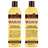 Renpure Organics Brazilian Keratin Straightening Shampoo & Conditioner 16 oz