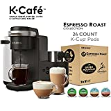 Keurig K-Café Single Serve K-Cup Pod Coffee, Latte and Cappuccino Maker, Charcoal and Espresso Roast Variety Pack, Bundle