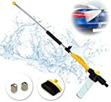 Brizer Hydro Jet Sprayer for High Pressure Power Washer Wand - 30 Inch + 9 Inch Long Extendable Sprayer, Hose Nozzle, for Car Washer, Window Water Cleaner, Glass Cleaning Tool, 2 Tips