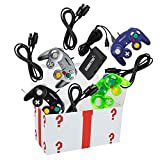4 Controllers, 4 Extension Cables, and a 4-Port Adapter Set - Compatible with Gamecube, Wii U/Switch/PC by EVORETRO ...