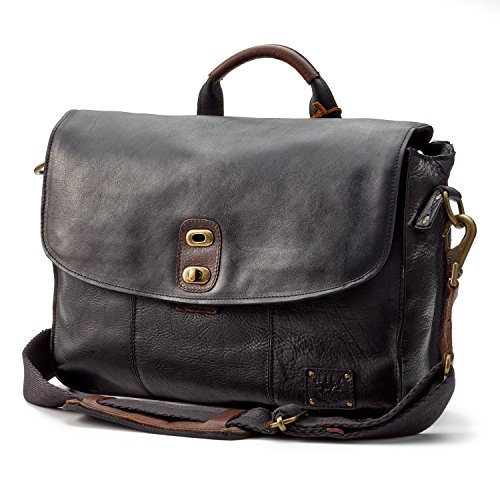 Features an expandable gusset and interior zip pocket Comfortable shoulder strap, eco pillow and included laptop case make this the perfect messenger bag for going to and from the office Made with only the highest grade vegetable tanned bridle leather