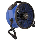 XPOWER X-35AR Pro Industrial Axial Fan - withstands High Temperatures - with Built-in Power Outlets, Sealed Motor and Variable Speed Control - No Heat - Blue (1)