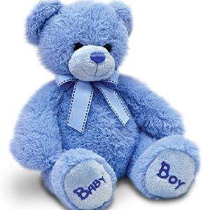 Keel Toys 18cm Nursery Bobby Bear – Blue 510fvEHZ9bL