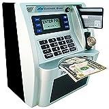 LB ATM Savings Bank Personal ATM Cash Coin Money Savings Machine,Kids Boys Birthday Gift Toy,Sliver Black