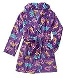 Girls Super Hero Plush Robe Pajamas Batgirl Supergirl Wonder Women (Large 10/12)
