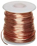 Bare Copper Wire, Bright, 18 AWG, 0.04' Diameter, 195' Length (Pack of 1)
