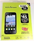 Straight Talk Alcatel OneTouch Pixi Eclipse A462C Prepaid Smartphone (Black)