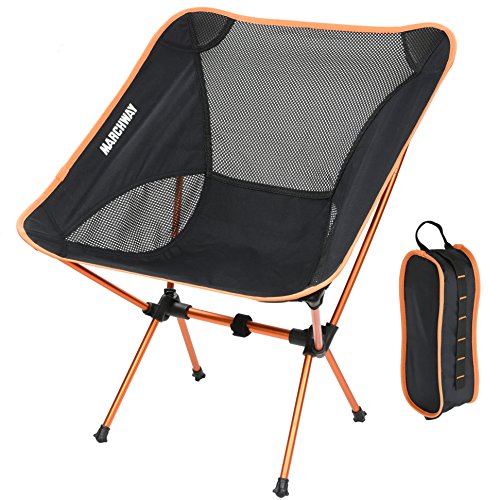 Marchway Ultralight Folding Camping Chair Portable Compact For Outdoor Camp Travel Beach Picnic Festival Hiking Lightweight Backpacking