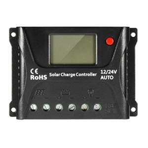 uxcell PWM Intelligent 10A Solar Panel Charge Controller 12V/24V Battery Regulator