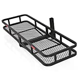 EGO BIKE 60' Folding Cargo Carrier Luggage Rack (Hauler Truck or Car Hitch 2' Receiver) Hitch Hauler