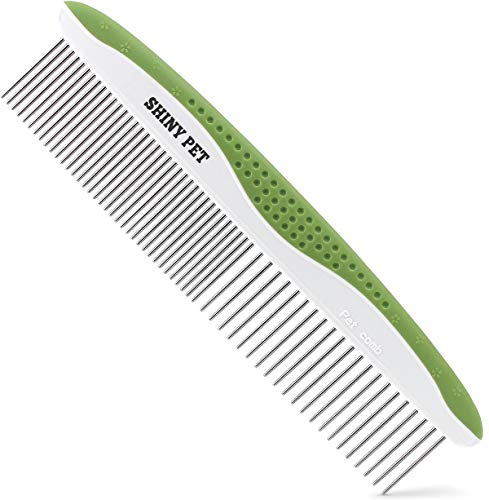 Dog-Comb-for-Removes-Tangles-and-Knots-Cat-Comb-for-Removing-Matted-Fur-Grooming-Tool-with-Stainless-Steel-Teeth-and-Non-Slip-Grip-Handle-Best-Pet-Hair-Comb-for-Home-Grooming-Kit-Ebook-Guide