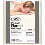 For Pro Premium Flannel Flat Sheet, Natural