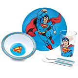 Bumkins DC Comics Toddler Mealtime Feeding Set, Superman