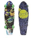 PlayWheels Teenage Mutant Ninja Turtles 21' Wood Cruiser Skateboard, Turtle Power