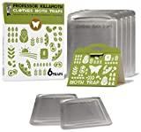 Clothes Moth Traps 6 Pack | Child and Pet Safe | No insecticides | Premium Attractant | Protect Clothes, Sweaters, Wool, Carpet | Safe Moth Killer