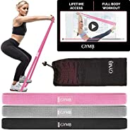 3 Fabric Long Resistance Bands Set, Pull Up Bands, Full Body Workout Bands Resistance for Women with Video Tra