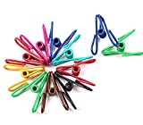 30pcs Steel Wire Clip,Colorful Vinyl-coated Windproof Clothespin(Mixed Colors)By Alimitopia