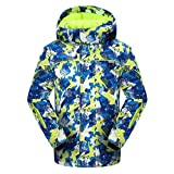 PHIBEE Big Boy's Waterproof Breathable Snowboard Ski Jacket Print1 12