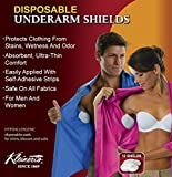 Kleinert's Disposable Peel & Stick Absorbent Underarm Pads. 12 Pads (6 Pair) Style # MW-4900. Measures 5' W x 5 3/4' L. Discreet, Comfortable, Sweat Free, Odor Blocker, Peel and Stick Dress Shields