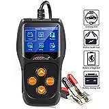 KONNWEI Professional Car Battery Tester on Cranking System, Charging System,100-2000 CCA 220AH Auto Battery Load Analyzer,Alternator Tester - Waveform Voltage Test for All 12V Cars/SUVs (KW600)