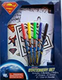 Superman Stationery Set with 5 Markers, 3 Posters. 32 Stickers, 15 Tattoos & 1 Color-in Standee
