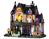 Lemax 35552 Crowley Hall Spooky Town Village Lighted Building Halloween Decor