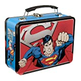 Vandor LLC 74570 Superman Man of Steel Large Tin Tote, 9 by 3.5 by 7.5-Inch, Multicolored