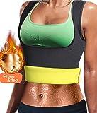 LODAY Women Slimming Body Shaper Weight Loss Sweat Belt Neoprene Sauna Waist Trainer Corset Trimmer Sport Workout Fitness (Black(Vest Underwear), XL(US 16-18))