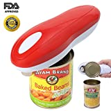 Electric Can Opener, Restaurant can opener, Smooth Edge Automatic Electric Can Opener! Chef's Best Choice (White)