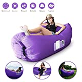 romatlink, Outdoor Inflatable Lounger Air Sofa, Blow Up Camping Couch for Adults & Kids, Water Proof & Anti-Air Leaking Design Sofa Bed for Backyard, Lakeside, Beach, Travel, Picnics, Music Festivals