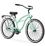 sixthreezero Around The Block Women's Single Speed Cruiser Bicycle, Mint Green w/ Black Seat/Grips, 26' Wheels/17' Frame