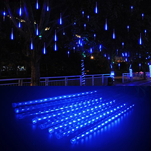 led meteor shower rain lights