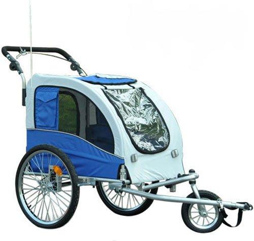 Aosom Elite II Pet Dog Bike Bicycle Trailer Stroller Jogger w/ Suspension - Blue
