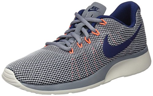 Nike Women's Tanjun Racer Cool Grey/Binary Blue Ankle-High Running Shoe - 8M