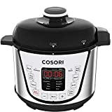 COSORI 2.1 Qt 7-in-1 Electric Pressure Cooker with Instant Stainless Steel Pot, Slow Cooker, Rice Cooker, Sauté, Steamer, Yogurt Maker & Warmer, Extra Sealing Ring, Glass Lid, Recipe, 2-Year Warranty