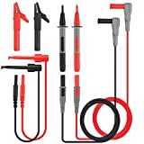 Electronic Test Leads Kit, Tacklife METL04,Digital Multimeter Leads with Alligator Clips, Test Extension, Test Probe, Plunger Mini-Hooks Replaceable Test Meter, Clamp Meter Probes Tips Set of 8 Piece