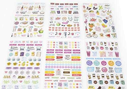 bloom daily planners New Classic Planner Sticker Sheets - Variety Sticker Pack - 417 Stickers Per Pack! 6