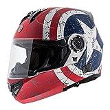 TORC T27B Full Face Modular Helmet with Blinc Bluetooth (Rebel Star, Medium)
